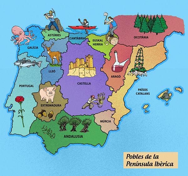 Mer Enn Bra Ideer Om Iberian Peninsula Map På Pinterest - Portugal map iberian peninsula