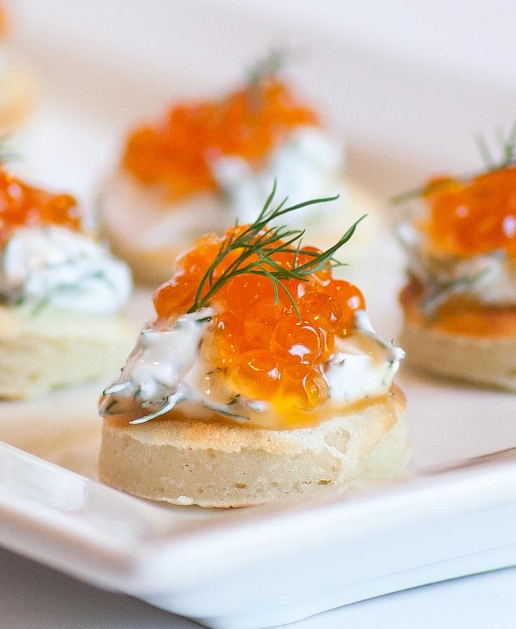 Blini canapes topped with sour cream, dill and caviar! Nothing is more Russian than these caviar blini served with cold vodka or drinks. Blini are essentially tiny pancakes that can be topped with pretty much anything, sweet or savory! I love the flavor combination for these blini and their size makes it easy to eat […]