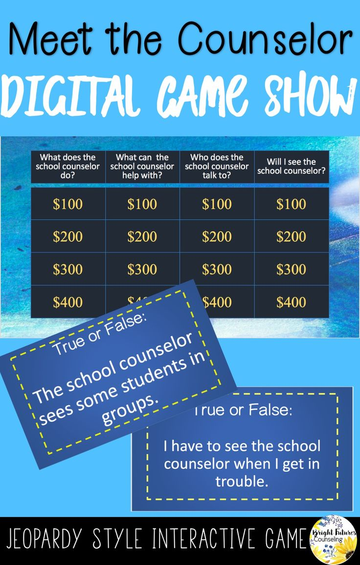 Introduce the role of the school counselor with this fun interactive game!