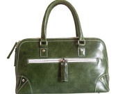 Olive Green Leather Handbag...Want!