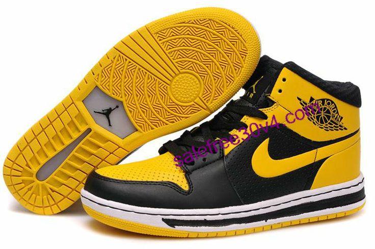 Air Jordan 1 Phat High Yellow Black        #Yellow  #Womens #Sneakers