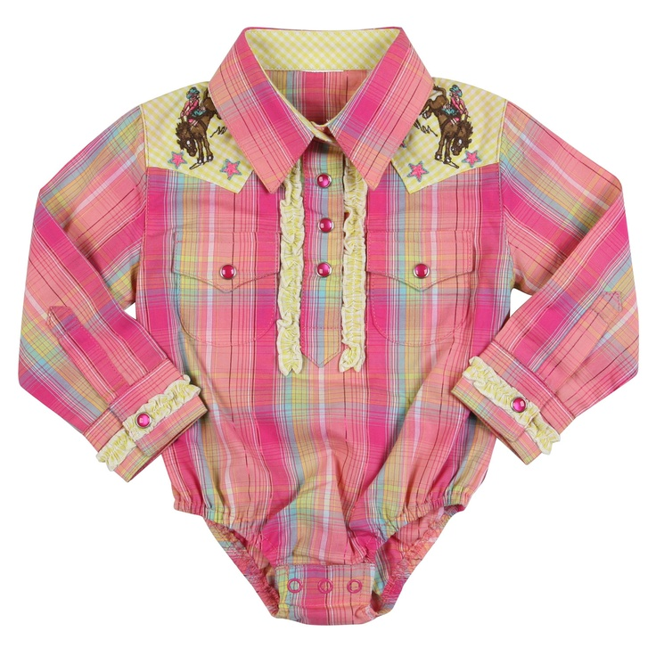 Wrangler All Around Baby Ride Cowgirl Ride Onesies Baby