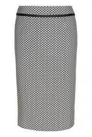 Monochrome Jacquard Suit Skirt