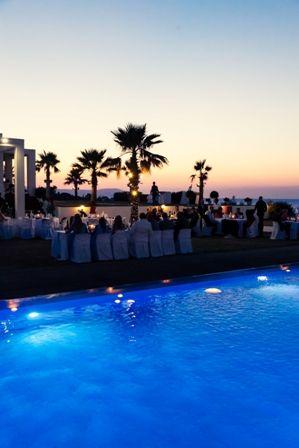 Breath-taking sunset over a perfect villa wedding in Crete. Moments www.weddingincrete.com