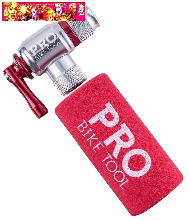 CO2 Inflator By Pro Bike Tool, Quick Easy, Presta and Schrader Valve Compatibl #ProBikeTool