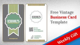 Free Simple Yet Elegant Vintage Business Card Design Template With QR Code (.ai, .eps)