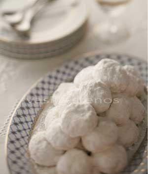 Greek Christmas cookies, called Kourambiedes | Greek Food - Greek Cooking - Greek Recipes by Diane Kochilas