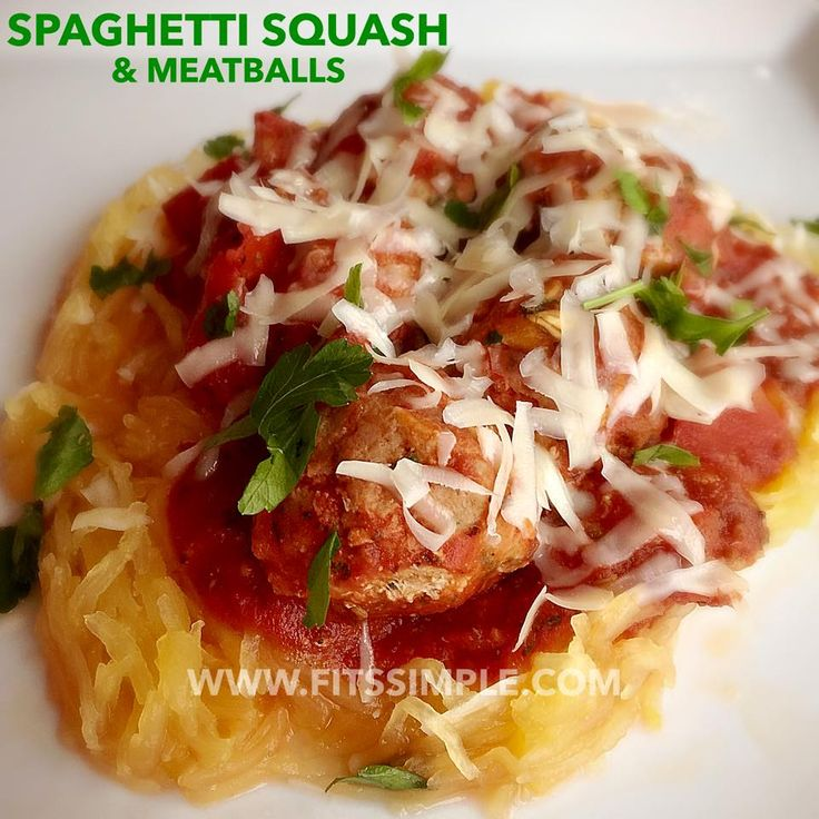 Looking for 21 Day Fix or Fix Extreme approved recipes?!? Look NO FURTHER! Check out this delicious Spaghetti Squash and Turkey Meatballs recipes INSIDE!