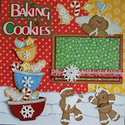 Baking Cookies premade Scrapbook Layout by Bonnie TopD picture