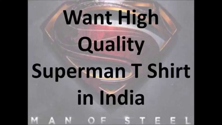 Buy Superman T Shirt Online in India | Superman Tee Shirt for Men