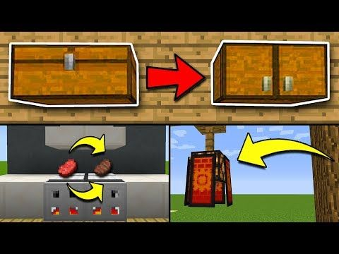 8 SECRET Things You Can Make in Minecraft! (Pocket Edition, PS4/3, Xbox, Switch, PC) - YouTube