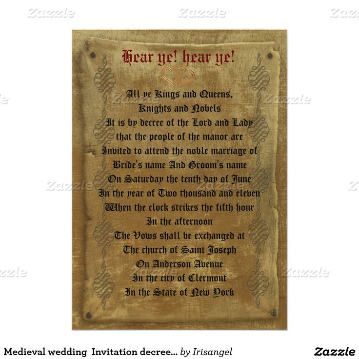 28 Best Medieval Wedding Invitations Images On Pinterest