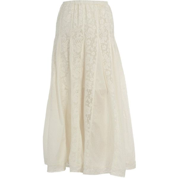 Cream lace maxi skirt ($14) ❤ liked on Polyvore featuring skirts, bottoms, maxi skirts, women's clothing, cream maxi skirt, maxi skirt, long lace skirt, cream lace maxi skirt and floor length skirt