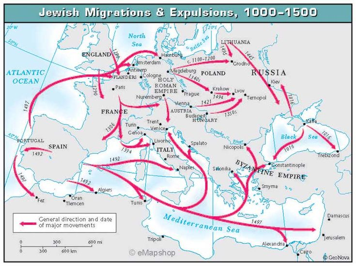 The Ashkenazi Jews who ended up in Modern Europe, Eastern Europe and Central Europe are called the Ashkenazi. They created communities from England to Russia, including Poland, Germany, France, Austria and Hungary, moving from place to place as persecution and politics required. Jews lived primarily in Northern Europe. At their peak in 1931, Ashkenazi Jews...  Read more »