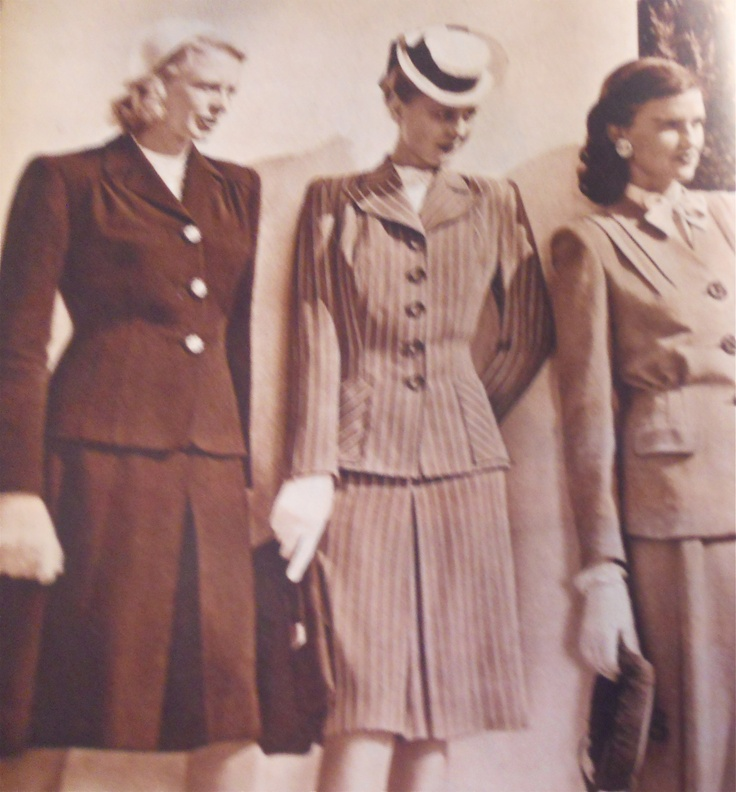 1944 Womens Suits Sears Wwii Pinterest Suits Women