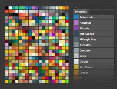 ウェブデザイナーは要チェック!フラットに効く400種以上のカラーがセットされたスウォッチ素材 | コリス