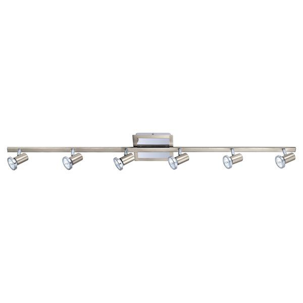 This stylish track 6-light fixture is a perfect decor update for your home. The light features a contemporary design with a chic nickel finish. Number of Light: 6 Lights Bulb Wattage: 50 W Light Bulb
