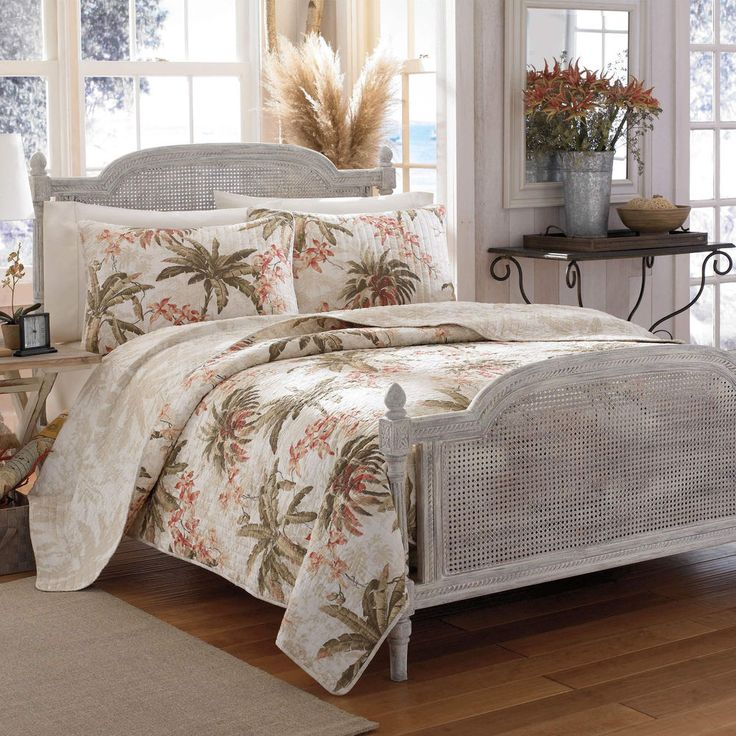 Tommy Bahama Bonny Cove Cotton Quilt 3 Piece Set Full/Queen Island Feel & Accent #TommyBahama
