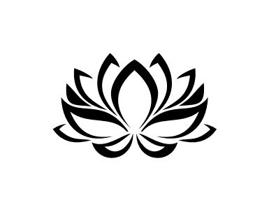 Pochoir tatouage temporaire Fleur de Lotus - fleur 23