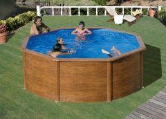 Bazén GRE Pacific, wood decor pool