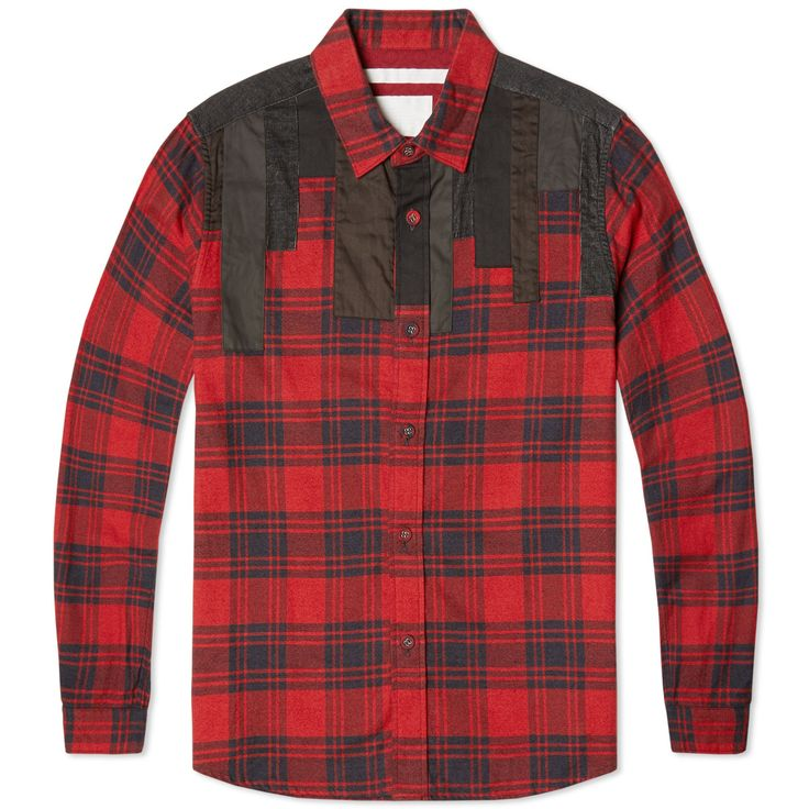 White Mountaineering specialise in superior outdoor clothing, expertly made to the highest possible level, with an uncompromising dedication to three core principles: design, utility and technology. Fusing the elements together the Patchwork Shirt is cut from a soft brushed cotton-flannel with woven plaid, finished with corduroy and twill patchwork to shoulders.  100% Cotton Patchwork to Shoulders Buttoned Cuffs Curved Hem Made in Japan