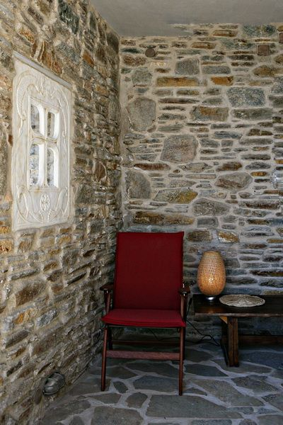 The stone made #vacation houses of #Tinos Habitart combine #artistic style with genuine island #architecture, and are decorated with authentic artwork and traditional antique furnishings. www.tinos-habitart.gr