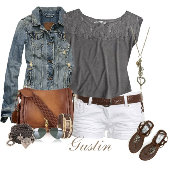 Cute and casual.: White Shorts, Casual Summer, Summer Looks, Jeans Jackets, Jean Jackets, Summer Outfits, Denim Jackets, Jeans Shorts, Summer Clothing