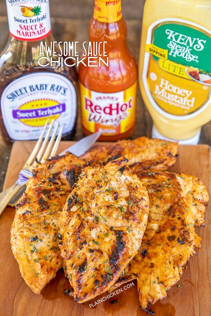Awesome Sauce Chicken – seriously delicious!!! Only 3 ingredients! Chicken marin…