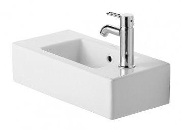 Duravit Vero Möbel-Handwaschbecken 500 x 250 mm mit Hahnloch rechts und Überlauf - Weiß