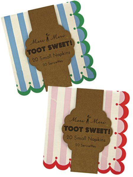 Toot Sweet!- servetit