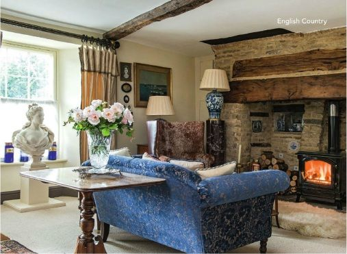 Oxfordshire english country style home living room pinterest English home decor pinterest