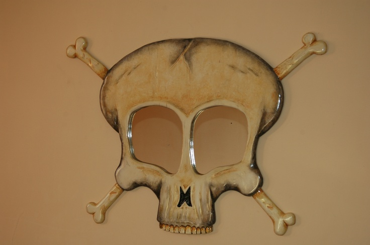 Decorative Mirror, Skully for in your new home deco. Funky n Stylish - Modern Mirror design by FunkyMirrors..!