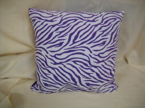 "Lavender Purple Zebra Microplush Throw Pillow with Solid Backing Girls Bedroom Bedding Decor by Unknown. $13.99. zebra stripe front, solid lavender purple on back. super soft microplush feel. 14"" squared. So fun for a zebra bedroom! Made of super soft material, this zebra stripe throw pillow is lavender and white on the front and solid lavender purple on the back. It measures a 14"" squared.. Save 30% Off!"