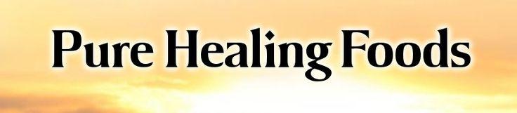 Pure Healing Foods goji berries, hemp seed, stevia, raw honey, chia seeds, etc.