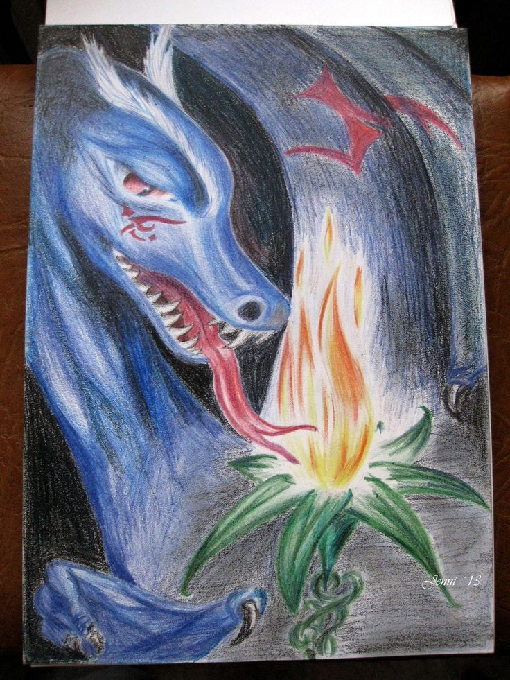 Dragon and Fire Flower