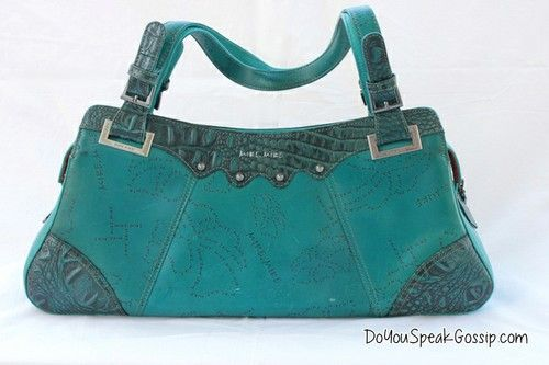 Mike Mike teal bag (second hand) FOR SALE ON MY SHOP. Click on the picture to see more photos and details and shop it now! doyouspeakgossip.tictail.com