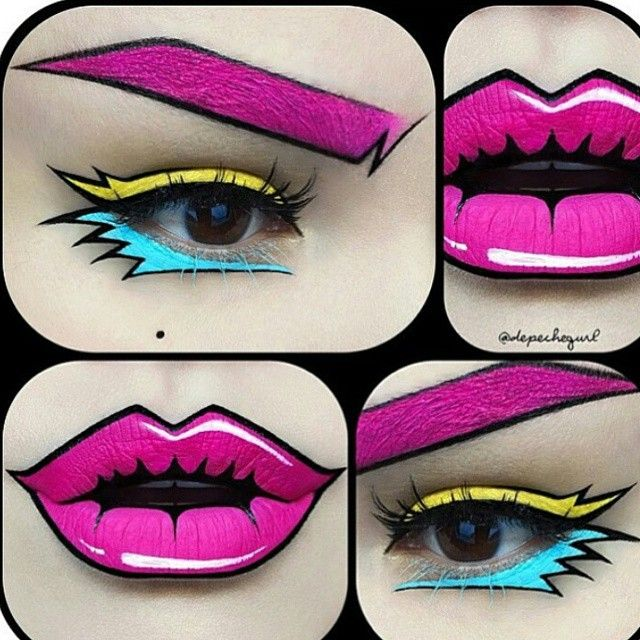 ** POW! ** BAM! *** BOOM! ** POP! ** ART MAKEUP ... by @depechegurl