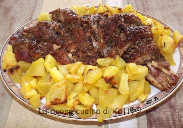 La buona cucina di Katty: Coscio di tacchino al forno con patatine