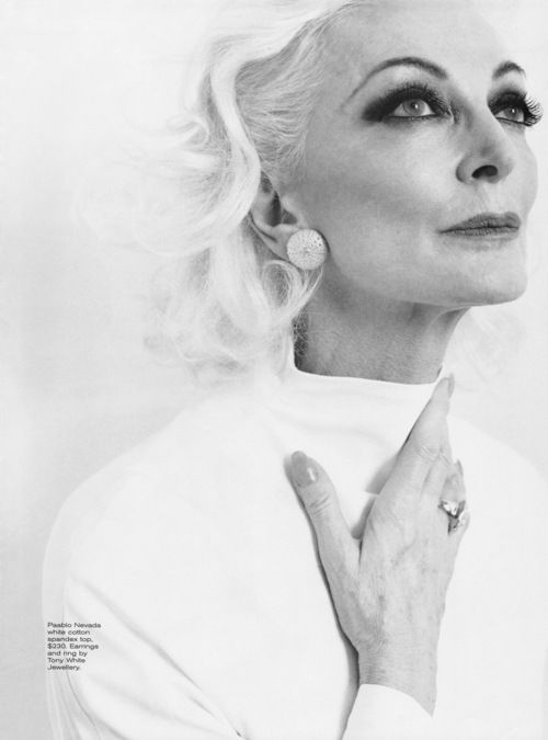 carmen dell'orefice. This is why I plan to go silver when the time comes. Gorgeous, classy woman.