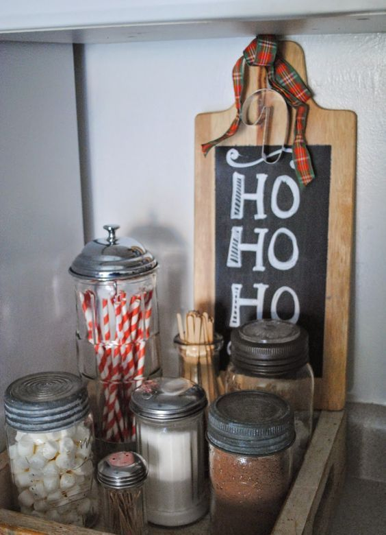 create a tiny hot chocolate nook in a small kitchen