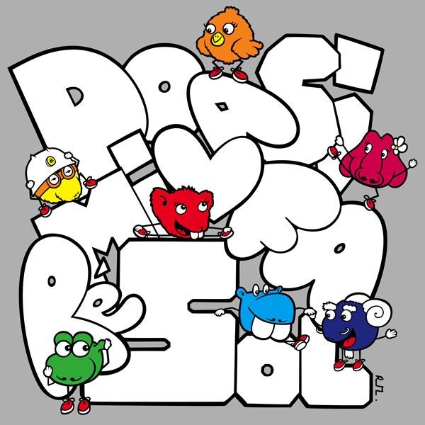 #illustration #drawing #art #kids #painting Everybody in da Graffiti - www.lesgnams.com