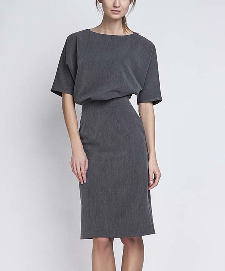 Lanti Graphite Blouson Dress on #zulily! #zulilyfinds