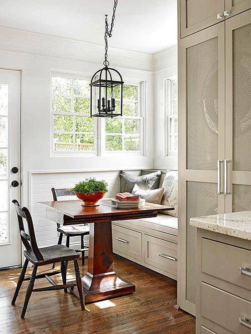 17 mejores ideas sobre bancos para mesas de comedor en - Mesa esquinera cocina ...