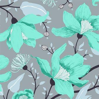 Clematis wallpaper from the Finnish brand Vallila. Designed by Tanja Orsjoki (scandinaviandesign)