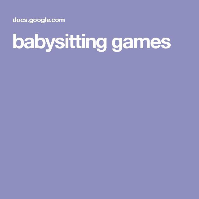 babysitting games