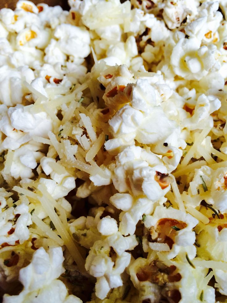 Always my favorite go-to snack, popcorn!  Yes, I make that herby, too.  For National Popcorn Day, I'm having mine drizzled with ...