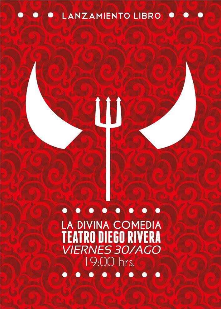 Afiche promocional libro 'La Divina Comedia' para ramo Diseño Editorial.