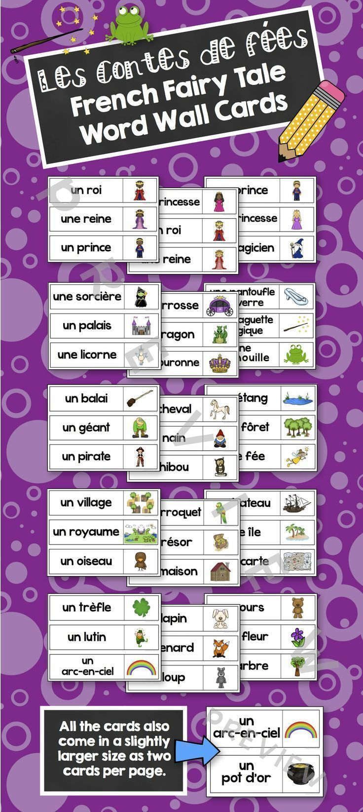 Now updated with a dictionary picture/handout your students will love! Includes 48 fairy tale vocabulary words with vibrant illustrations. These cards come in two sizes: 3 per letter sized page or 2 per page.