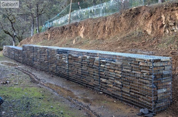 stepped gabion wall in Jackson County OR http://www.gabion1.com