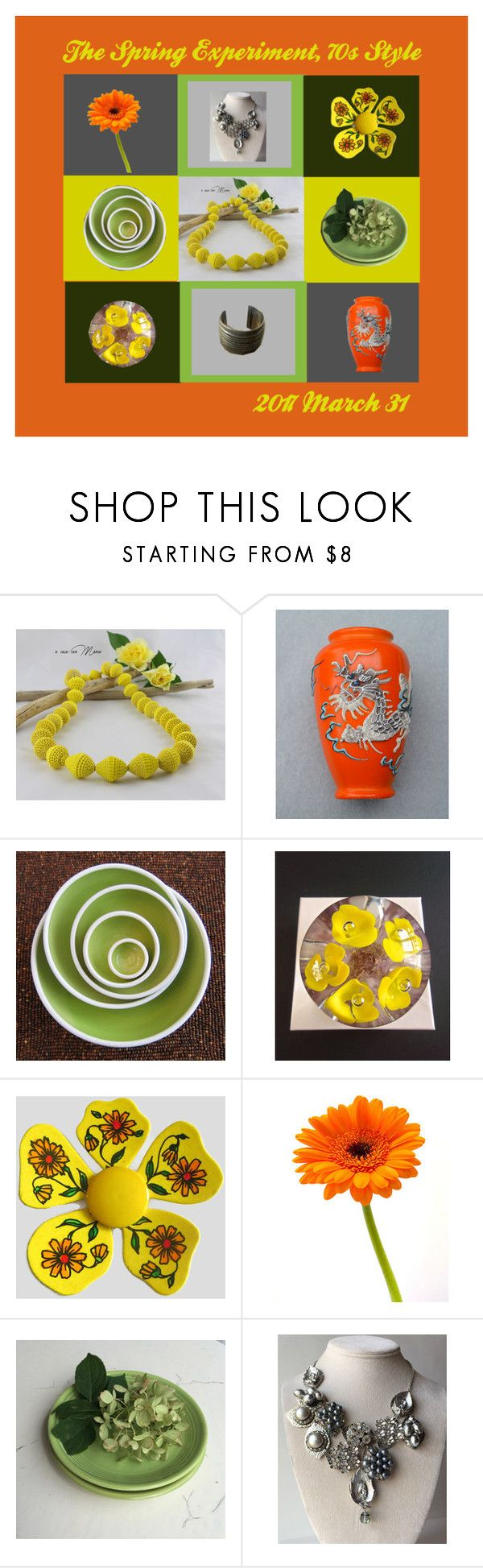 """""""The Spring Experiment, 70s Style"""" by anna-ragland ❤ liked on Polyvore featuring Giallo, Reclaimed Vintage, kitchen, contemporary and vintage"""